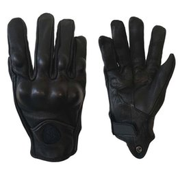 summer motorcycle riding gloves Australia - Genuine Leather Motorcycle Gloves Anti Carbon Fiber Summer Short Bi-directional Motorcycle Motor Racing Riding Anti Wrestling Gloves
