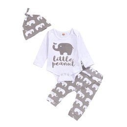 wearing designer clothes Canada - Baby Girl Designer Clothes Baby Clothes Kids Designer Clothes Girls christmas Wear long sleeve khaki trousers hat boy 3 piece set