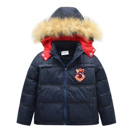386d2863e635 Teenager Boys Jackets 2018 Hot Sale Children Coat Outwear Winter Kids  Cotton Thicken Warm Fur Collar Clothes for 4 8 12 Years