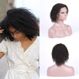 $enCountryForm.capitalKeyWord Australia - Malaysian Kinky Curly Human Hair Full Lace Wigs Glueless Lace Front Wigs 130% Density African American Wigs Ping