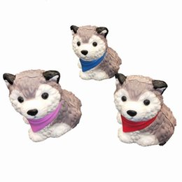 wholesale husky toys NZ - New 10CM Cute Puppy Dog Siberian Husky PU Squishy Depression Toys For Kids Slow Rising Home Decoration Children Gift Novelty