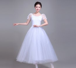 $enCountryForm.capitalKeyWord Australia - Professional Ballet Leotards For Women Adult Romantic Ballet Tutu Rehearsal Long Tulle Practice Skirt Dress For Girl Kids