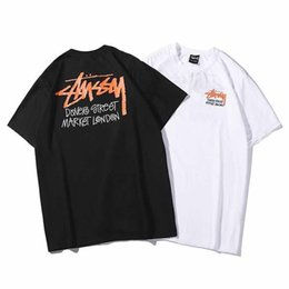 aea8ab946fea 19SS Ulzzang new Stussy mens designer t shirts personality designer shirt  thrasher printing trend short-sleeved T-shirt casual cotton tee