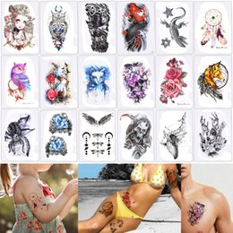 $enCountryForm.capitalKeyWord Canada - 14.8*21cm HB Colored Temporary Tattoo Sticker Waterproof for Women Men Fish Arabic Body Arm Leg Art Makeup Tattoo Halloween Beach Party Gift