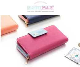 $enCountryForm.capitalKeyWord Australia - Christmas Gift For Girls Stylish Women Wallets PU Leather Long Leather Women Clutch Bag Hasp Zipper Wallet Card Holders Clutch Money