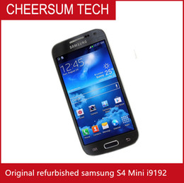 refurbished unlock cell phones NZ - Samsung Galaxy S4 Mini I9192 I9195 Cell Phone 3G 4.3''Touch NFC WIFI GPS 8MP Camera Unlocked Phone Refurbished Free Shipping