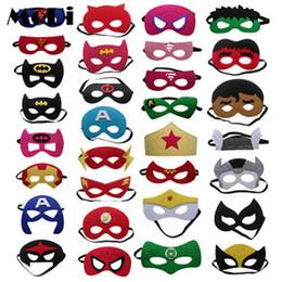 $enCountryForm.capitalKeyWord NZ - Super Hero Batman Half face Mask Cartoon Makeup Halloween Xmas Captain America Spiderman Ironman Thor Superman Hulk Cosplay birthday gifts