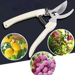 gardens scissors wholesale Canada - Tree branch pruning shears farm fruit tree garden nursery vegetable flower wood cut garden flower branch scissors gardening tool