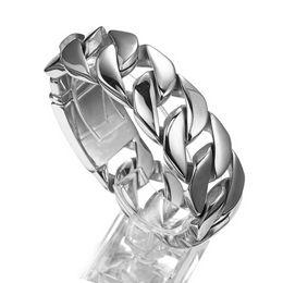 $enCountryForm.capitalKeyWord Australia - 8.46inch 26mm New Arrive Silver Cuban Curb High Quality Bracelet Stainless Steel Jewelry Mens Bangle Bracelet Punk Rock Jewelry