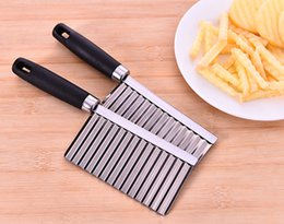 wave brushes Australia - Kitchen Cooking Tool Stainless Steel Vegetable Fruit Wavy Cutter Potato Cucumber Carrot Waves Cutting Slicer