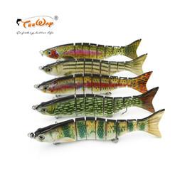 $enCountryForm.capitalKeyWord Australia - Fishing Wobblers Lifelike Fishing Lure 4 Segment Swimbait Crankbait Hard Bait Slow With 6# Artificial Hooks