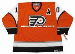 9b1d966f1 Philadelphia Flyers Jersey Ice Hockey UK - Personalized Custom 10 JOHN  LeCLAIR Philadelphia Flyers 2003 CCM