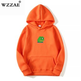hip hop belts for men Australia - 2018 Men Women Sad Frog Print Sportswear Hoodies Male Hip Hop Fleece Long Sleeve Hoodie Slim Fit Sweatshirt Hoodies for Men