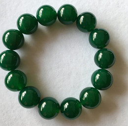 $enCountryForm.capitalKeyWord Australia - Natural green agate bracelet men and women couples beads beads beads chalcedony bracelets mother gift jade wholesale