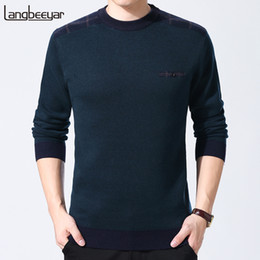 top korean clothing brands 2019 - 2019 New Fashion Brand Sweaters Men Pullover Top Grade Slim Fit Jumpers Knitred Wool Warm Autumn Korean Style Casual Men