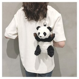 cross body backpacks girls NZ - Wholesale Panda Unisex Womens Mens Child Students Cute 2 Sizes Shoulder Bag Chest Bag Cross Body Backpack Shoulders Bag Cartoon B102160Z