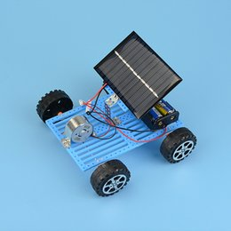 solar powered gadgets gifts UK - Toys for children Mini Solar Powered DIY Car Toy 1PC Child Plastic Funny Educational Gadget Hobby Gift Solar Powered Toys
