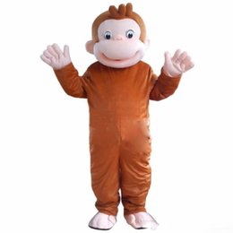 Wholesale adult fancy halloween monkey costume online – ideas 2019High quality hot Curious George Monkey Mascot Costumes Cartoon Fancy Dress Halloween Party Costume Adult Size