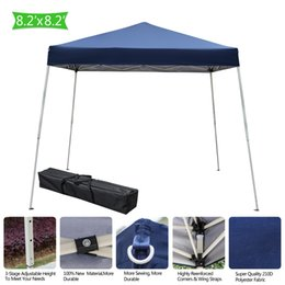 portable canopies 2019 - 2.5 x 2.5m Home Use Portable Outdoor Camping Waterproof Folding Tent with Carry Bag Blue Color Canopy cheap portable can
