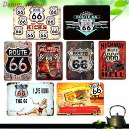 $enCountryForm.capitalKeyWord NZ - Route 66 Vintage Metal Tin Signs Home Bar Shabby Chic Casino Cafe Pub Shop Home Decor Wall Stickers Decorative Metal Plates WY1