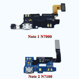 $enCountryForm.capitalKeyWord Australia - USB Connector Charging Port Flex Cable For Samsung galaxy Note 1 N7000 Note 2 N7100 micro usb port Flex Parts Replacement
