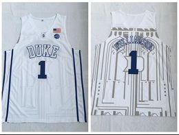 $enCountryForm.capitalKeyWord Australia - Duke Blue Devils College 2018 Basketball Jersey 1 Zion Williamson White Embroidered Swingman Jerseys
