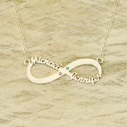 $enCountryForm.capitalKeyWord Australia - Personalized Valentines Gift Infinity Two Friendship Gift Birthstone Infinity Name Necklace
