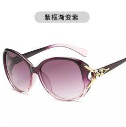 d069efbdf5e Korean Round Face Fashion Slim Female Star UV-proof Large Frame Sunglasses  in 2019
