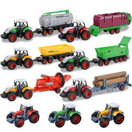 farming gifts UK - 3Pcs setHOT Alloy Farm tractor Model children's toys farmer harvester agricultural vehicle simulation model Gifts for children