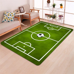 Chinese  Modern Carpet 3D Football Area Rugs Flannel Rug Memory Foam Carpet Boys Kids Play Crawl Mat Big Carpets for Home Living Room Blanket manufacturers