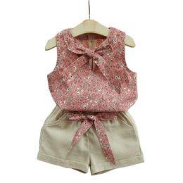 $enCountryForm.capitalKeyWord Australia - 2 3 4 5 6 7 8 Year Girls Clothes Sleeveless Flower Shirts Shorts Kids Suits for Girls 2019 Casual Summer Children Clothing Set
