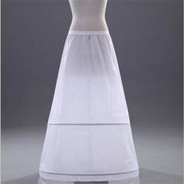 $enCountryForm.capitalKeyWord Australia - White Petticoats A-line 2-Hoops Underskirt Crinoline for Wedding Bride Dress Formal Dress In Stock Hot Sale Wedding Accessories