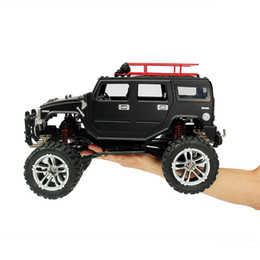 Electric Road Cars UK - New Arrival HG P403 1 10 2.4G 4WD 20km h Black Color Rc Car Rock Crawler Off-road Truck RTR Above 100m Toy kids For Gifts