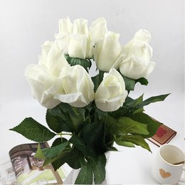 $enCountryForm.capitalKeyWord Australia - 10pcs Real Touch Silk Artificial Flowers Rose Hand Feel Felt Simulation Wedding Silicone Rose Flowers Home Decorative Flowers T8190626
