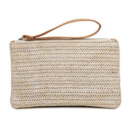 $enCountryForm.capitalKeyWord Canada - Women Straw HandBag Portable Travel Bohemian Clutch Packet Summer Beach Weaving Hand Pouch Casual Female Shoulder Bag