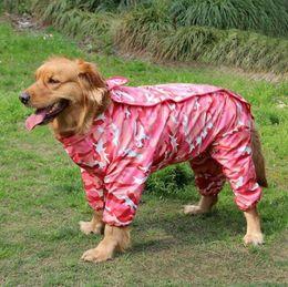 a3c2de34175 Panda summer caPs online shopping - Camouflage Four Feet Dog Raincoat Panda  Conjoined Pets Apparel Hooded