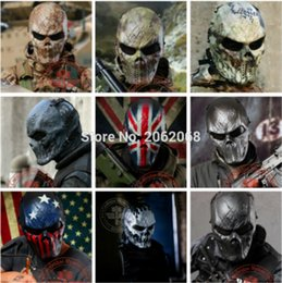 game face skull mask Australia - Hot Sale Skull Party Mask Paintball Full Face Mask Army Games Mesh Eye Shield for Halloween Cosplay Party Decor
