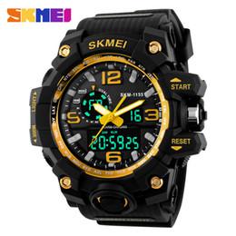 Men S Big Watch Australia - 2016 SKMEI Big Dial Digital Sports Watch S SHOCK Men Military Army Watch Water Resistant Date Calendar LED Watches Montre Homme