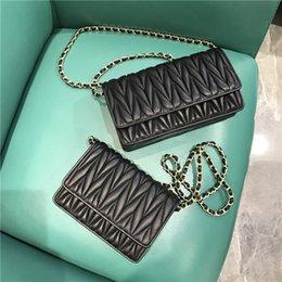 $enCountryForm.capitalKeyWord NZ - Elegant2019 Woman Leather Genuine Sheepskin Small Bag Senior Western Style Fold Diagonal Chain Package