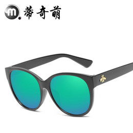 Blocks For Girls Australia - 3179 new round metal high-end sunglasses for men and women retro sunglasses block large frame sunglasses