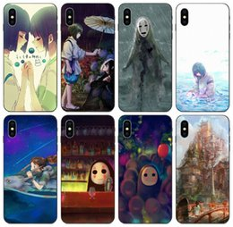iphone 8x Canada - [TongTrade] Spirited Away Case For iPhone 11 Pro Max X XS 8s 8 7s 7 6 5 Plus Galaxy A7 Huawei Mate 20 Honor 8X 9X Xiaomi 9T Pro Custom Case