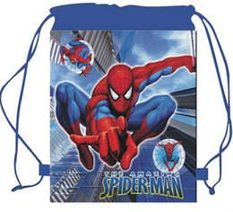 kids school bags spiderman Australia - hot sale 4style Spider man spiderman Drawstring bags backpacks handbags Cartoon children school bags kids shopping bags present