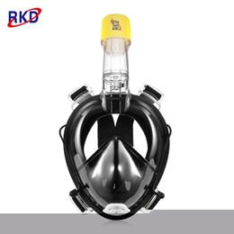 Kamera Desteği ile RKD Yüzer Panoramik Görünüm Anti-sis Tam Yüz Dalış Maskesi