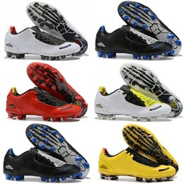 Wholesale 2019 New Arrival Mens Total 90 Laser I SE FG Football Shoes Top Quality Limited 2000 Black Yellow Athletic Fashion Soccer Cleats