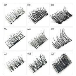 8120e872a77 4pcs pair Magnetic Eyelashes Extension Natural Long False Eyelashes  Handmade Magnet Fake Eye Lashes 3d Makeup Box