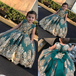 Pretty red dresses for girls online shopping - Pretty Flower Girl Dresses For Wedding Lace Applique Seuqins Bow Kids Pageant Wedding Party Dress First Communion Prom Gowns Robes De Fête