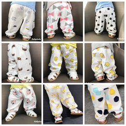 $enCountryForm.capitalKeyWord Australia - INS Baby Pants 100% Cotton Baby Boys Trousers Cartoon Baby Girls Bloom Pants Kids Anti Mosquito Pajama Summer Kids Clothing 19 Design YW3171