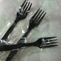 Knife Forks Australia - 100Pcs pack Long Handle Fork Reusable Plastic Disposable Forks Party Picnic Pack Tableware Thickening Fine Food Knife Hot Sale