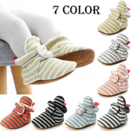 $enCountryForm.capitalKeyWord Australia - Cute Newborn Kid Sneakers Baby Boy Girl Soft Sole Crib Shoes 2019 Baby Boy Girl Autumn Winter Warm Casual Striped Pre Walkers