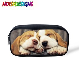 $enCountryForm.capitalKeyWord Australia - 3D Cute Beagle Dog Print Children Pencil Box for School girl Boy Kits Cosmetic Bags case School Supplies Makeup Storage Pouch